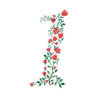 Royal floral number 1