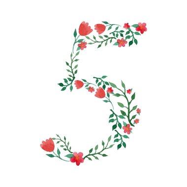 Royal floral number 5