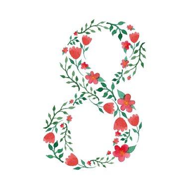 Royal floral number 8