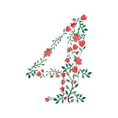 Royal floral number 4