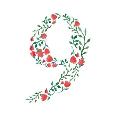 Royal floral number 9