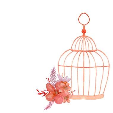 Vintage flowers in cage