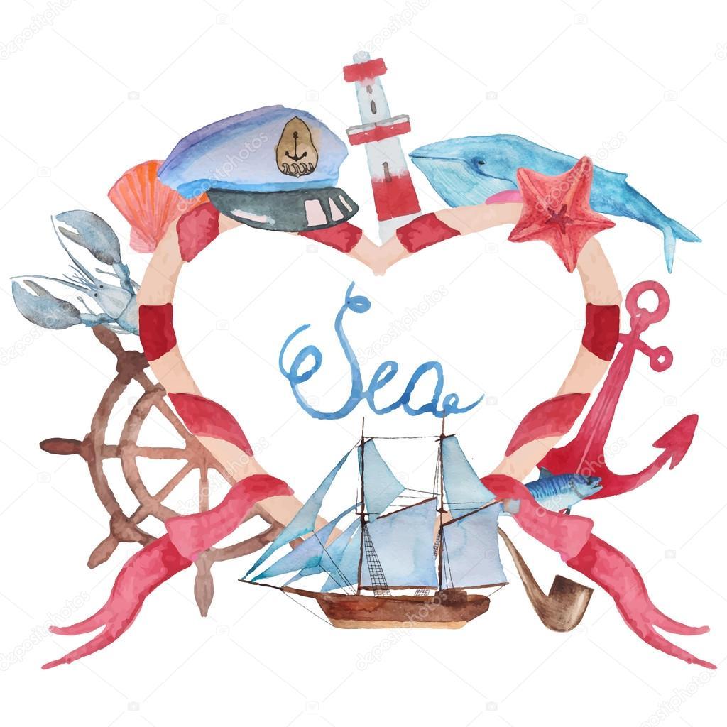 Love sea background
