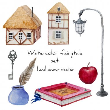 Fairytale set of objects.