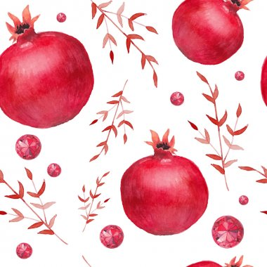 Pomegranate and  diamonds pattern