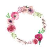Fotografia Corona dei fiori dellannata dellacquerello