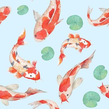 Rainbow koi carp pattern.