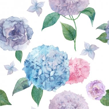 watercolor natural flowers background