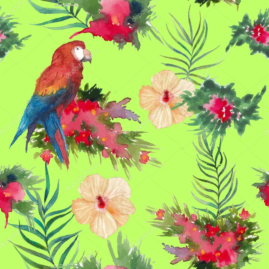 wallpaper tropical birds and foliage - photo #11