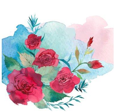 watercolor floral invitation