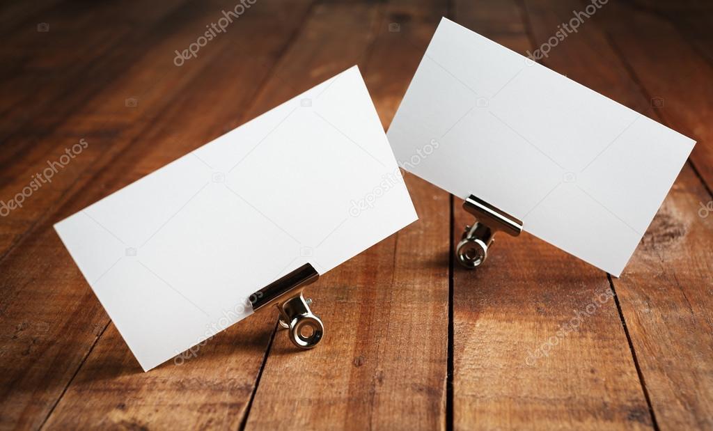 Blank business cards — Stock Photo © Veresovich #115835122