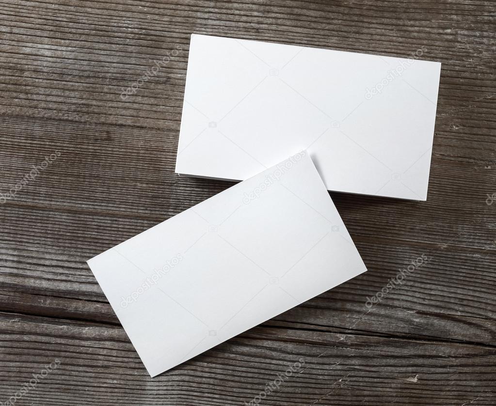 Photo of blank business cards — Stock Photo © Veresovich #73686675