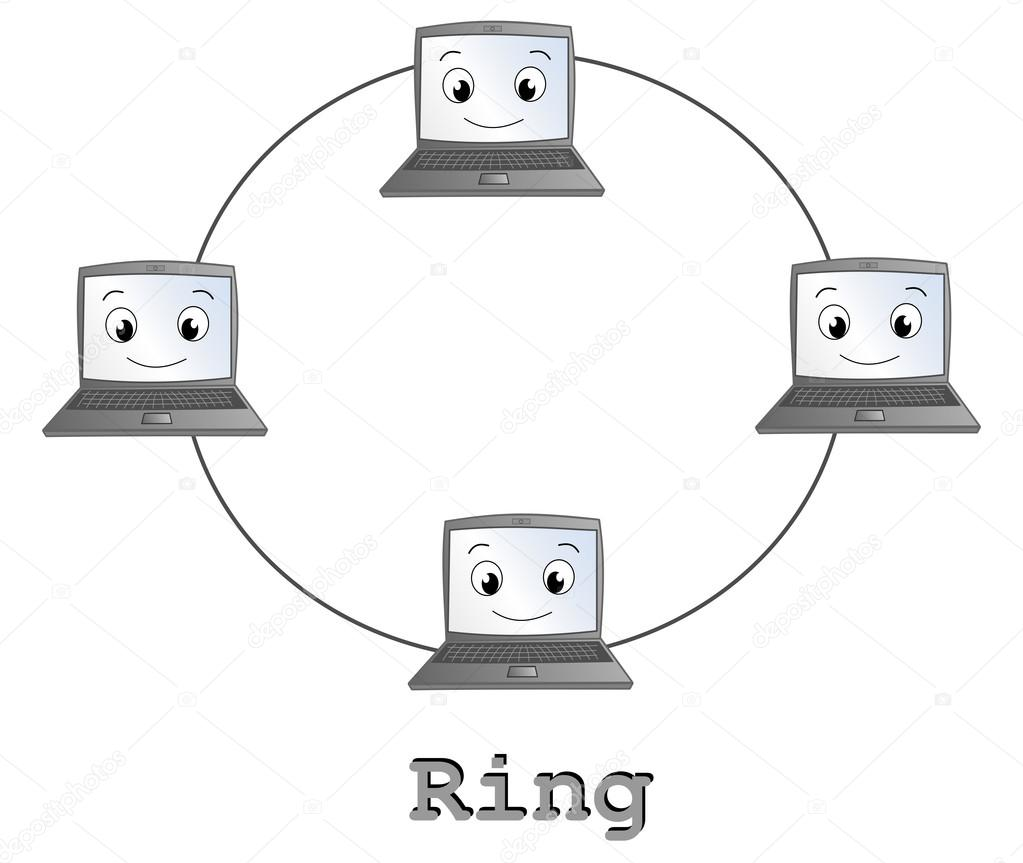 Ring network topology cartoon illustration stock photo ring network topology cartoon illustration stock photo ccuart Gallery