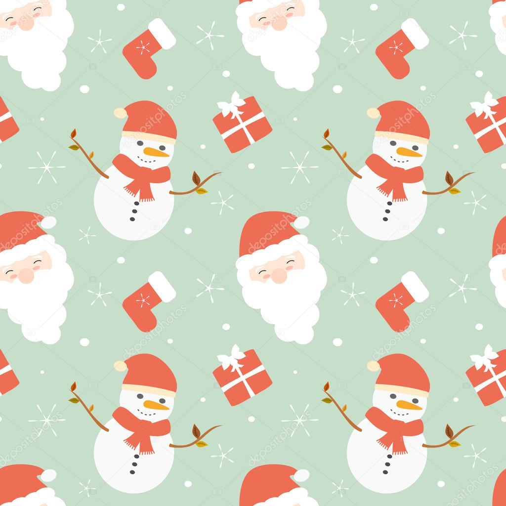 depositphotos 89495178 stock illustration cute cartoon christmas seamless vector