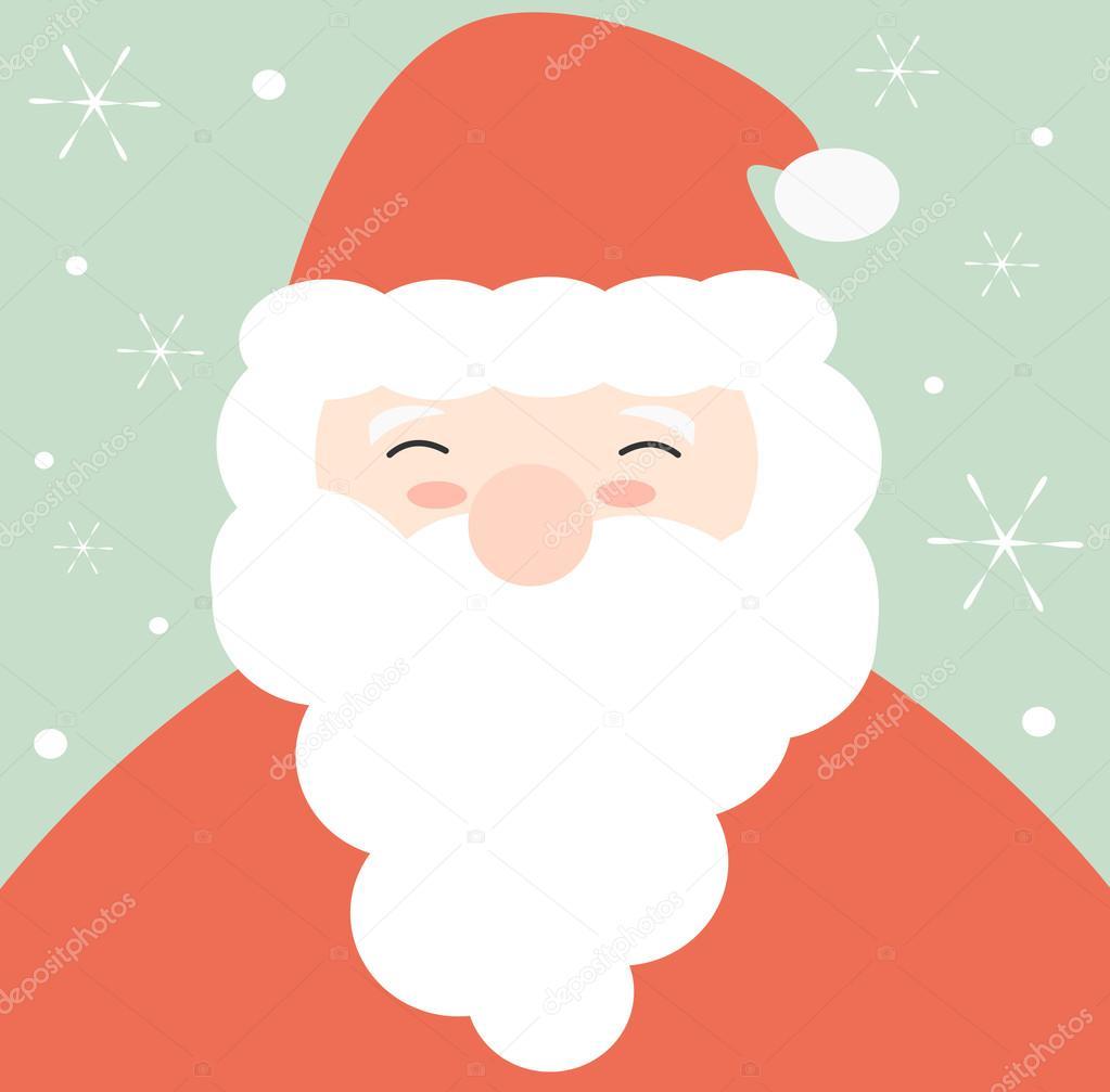 Dibujo Santa Claus Cara