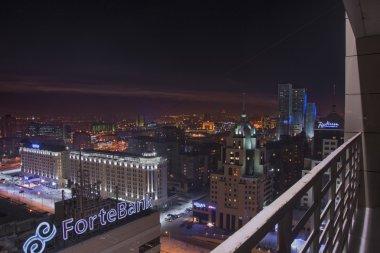 Night view of Astana