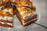 Carrot cake with almond and chocolate chips horizontal