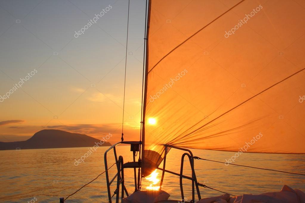 sunrise aboard a sailing yacht