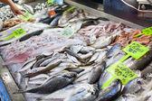 Photo Fresh seafood in fish market