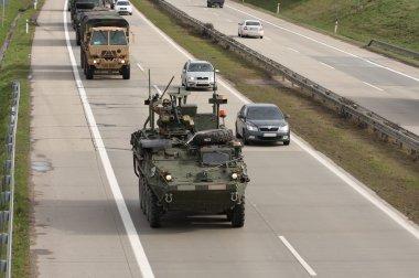Dragoon Ride - US army convoy drives through Czech Republic