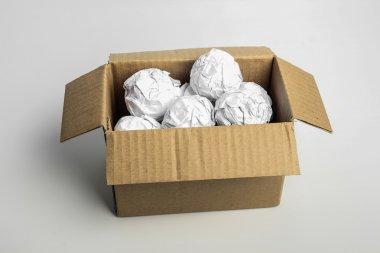 Paper ball in box