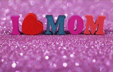 """Картина, постер, плакат, фотообои """"я люблю маму """", артикул 86466946"""