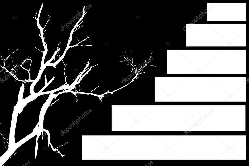 Siyah Beyaz ölüm Ağacı Stok Foto Tanantornanutra 76314277