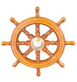 Dřevěná loď volant kormidlo