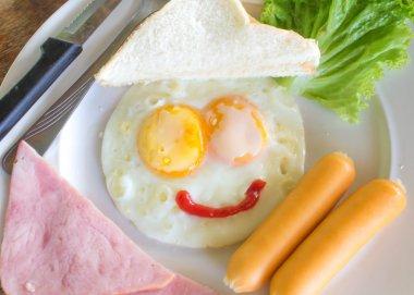 The nice breakfast with fun