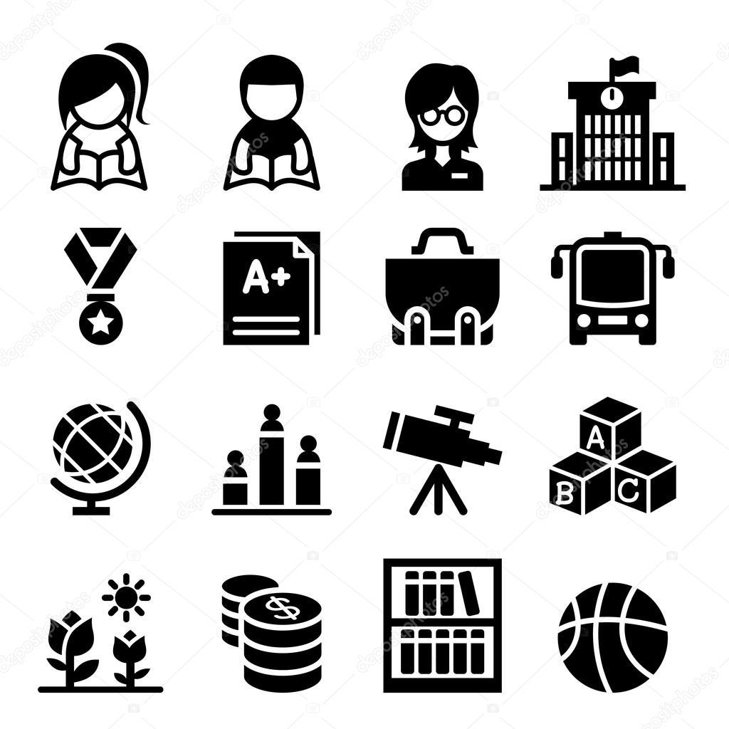 School & Education icon illustration