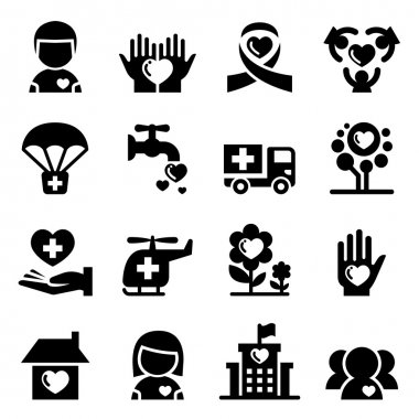 Charity icon set vector illustration  symbol