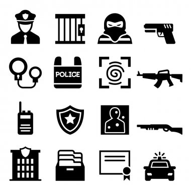 Police icon  set vector illustration  symbol