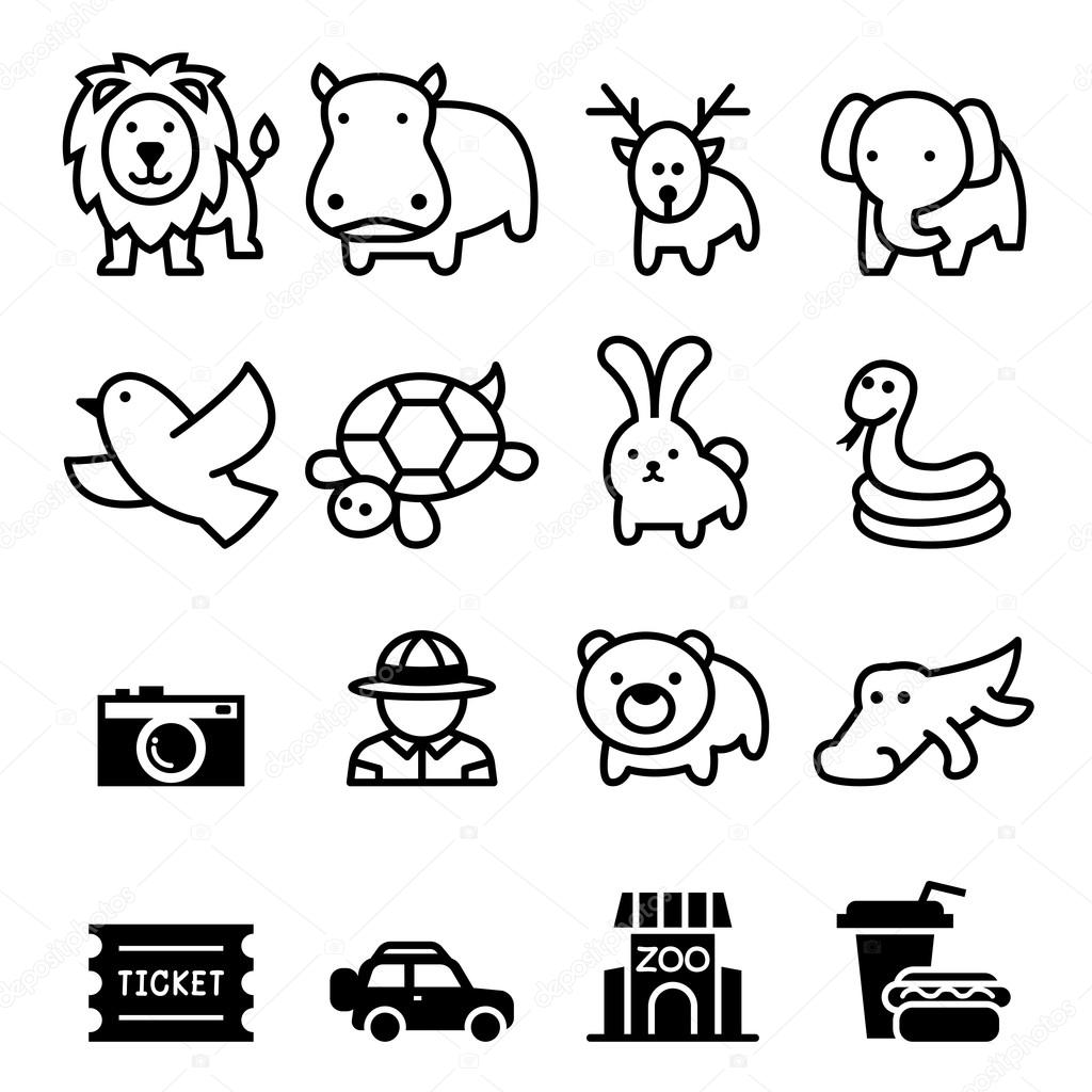 Zoo icon set vector illustration  symbol