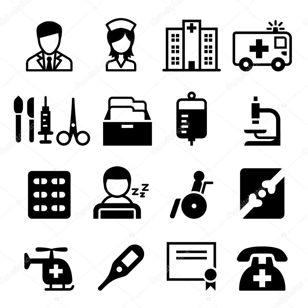 medicine icon set vector illustration  symbol