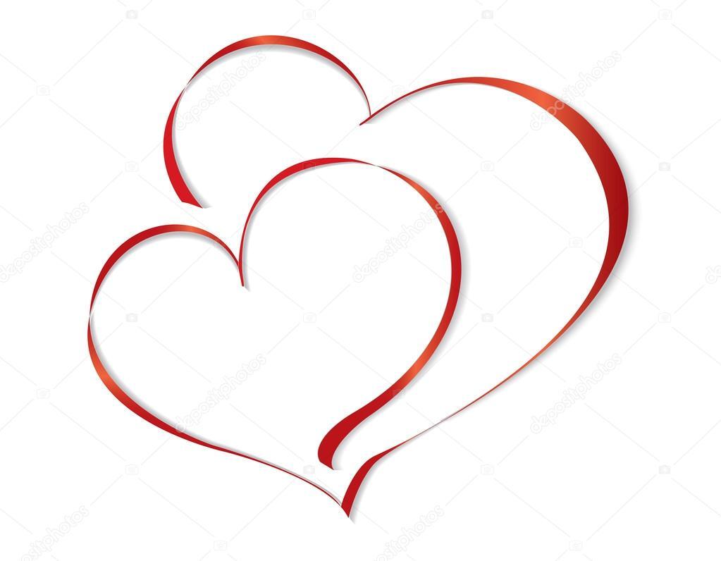 Картинки два сердца вместе карандашом, верочка