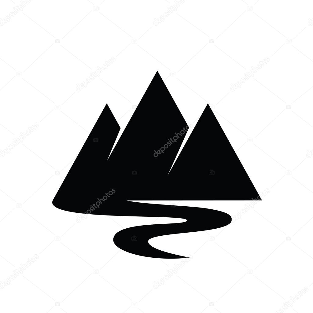 mountains and river vector icon stock vector c tetiana svirska 122368398 https depositphotos com 122368398 stock illustration mountains and river vector icon html