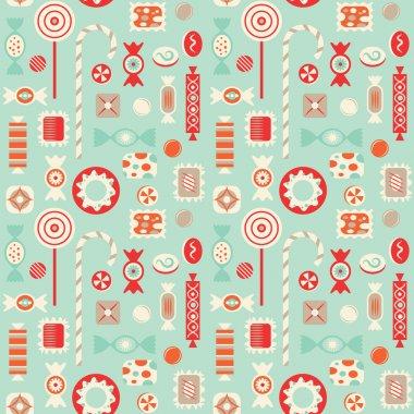Candies seamless pattern.
