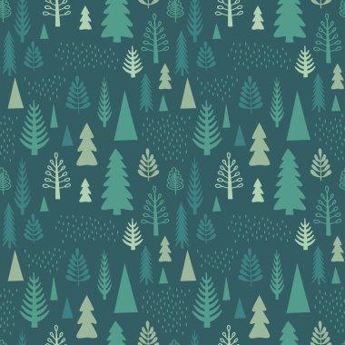 Seamless tree pattern.