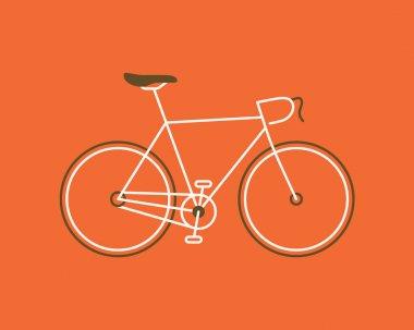 Stylized road bike.