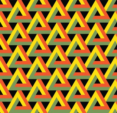 Vector seamless triangle pattern.