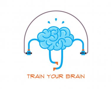 Train your brain. Creative concept.