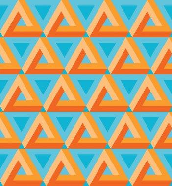 Seamless colorful triangle pattern.