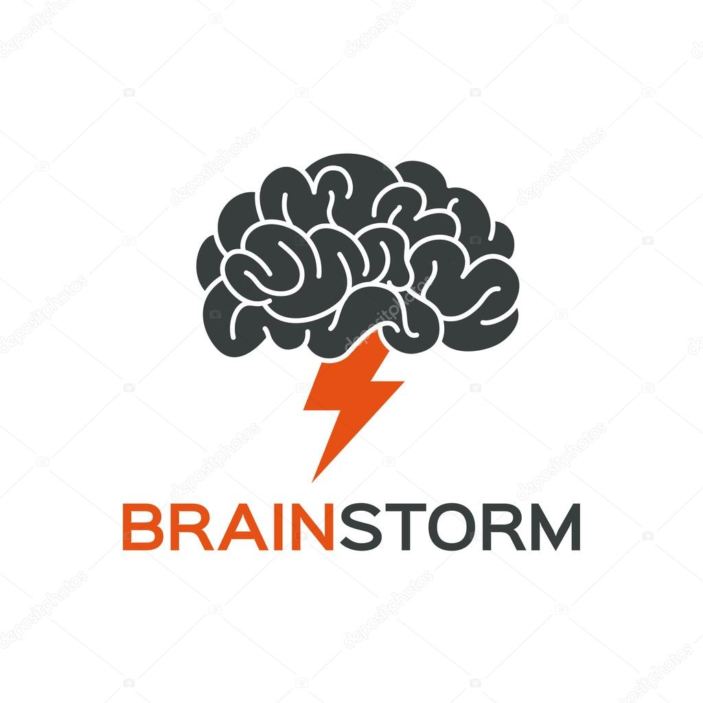 brainstorming creative idea abstract icon � stock vector