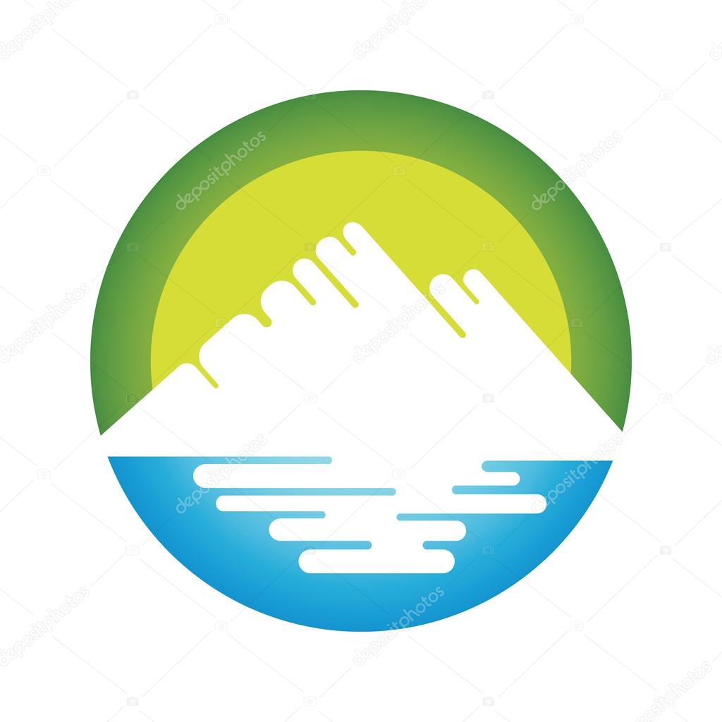Nature landscape icon.