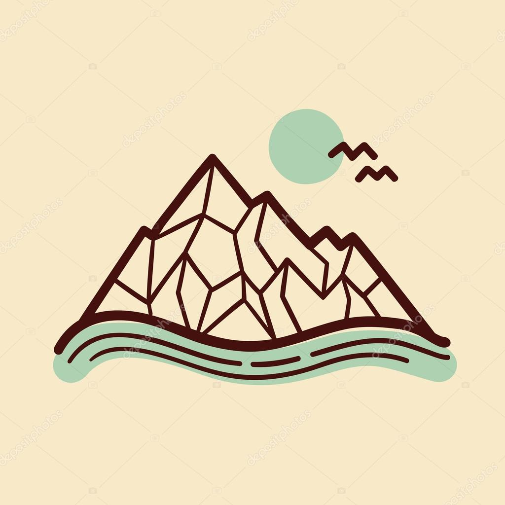 Mountains. Vector illustration.
