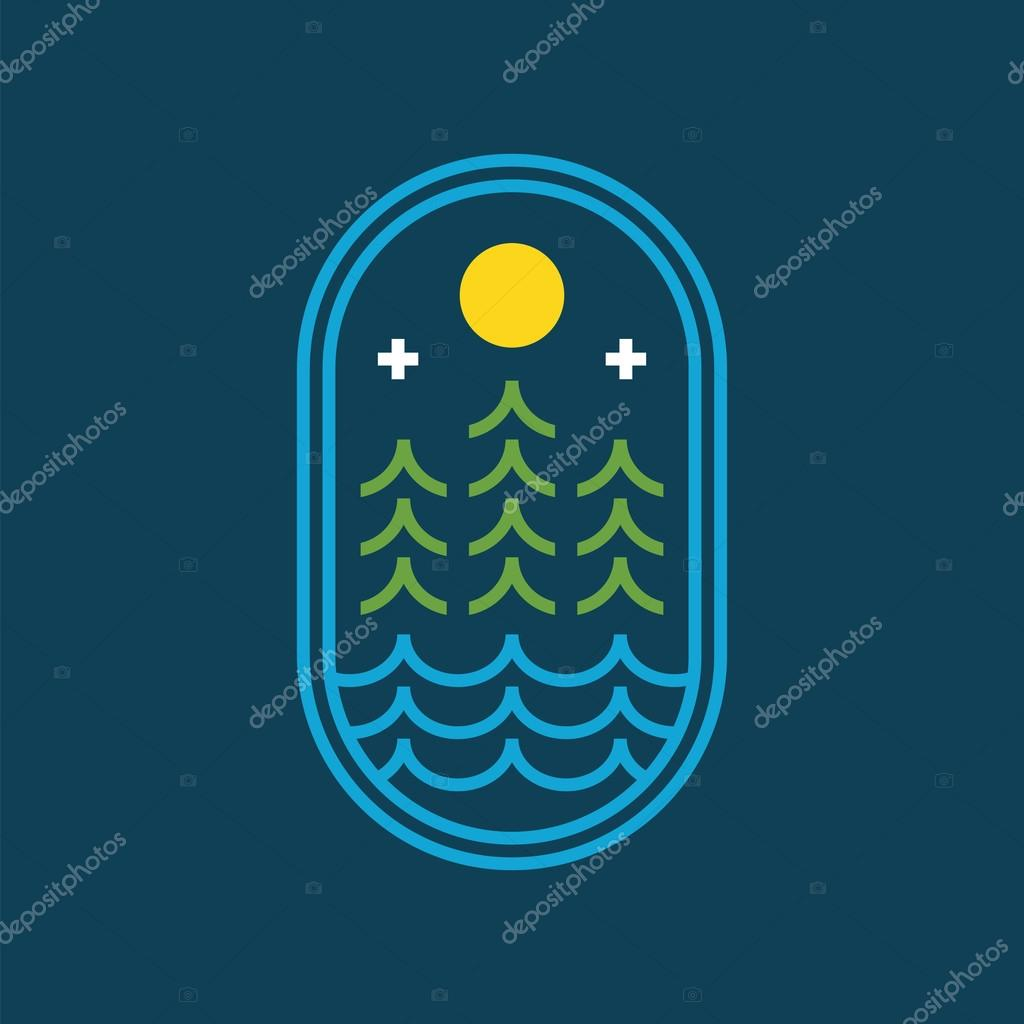Abstract nature icon.