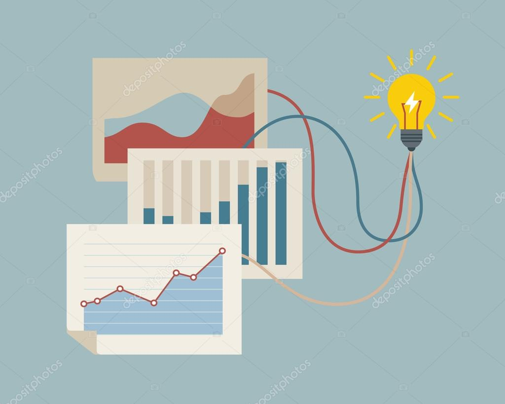 Conceptual illustration on making new idea.