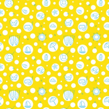 Seamless summer pattern.