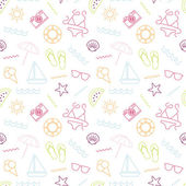 Photo Colorful seamless summer pattern.