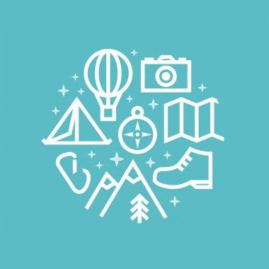 Travel and tourism background. Creative illustration.